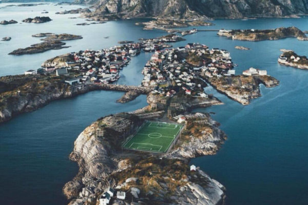 The world's most beautiful football stadium on the sea